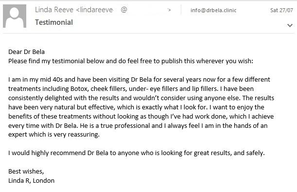 testimonial from Linda